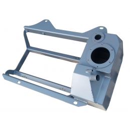 Fuel tank with frame for...